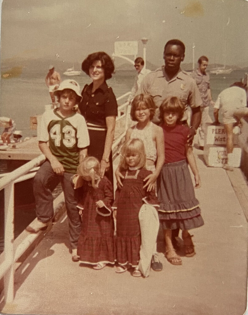 Hosting President Johnson's wife and family in 1978.