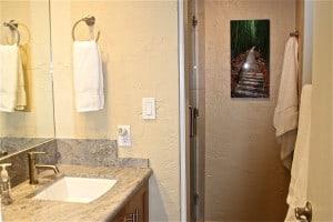 Papakea Resort oceanfront condo A209 bath