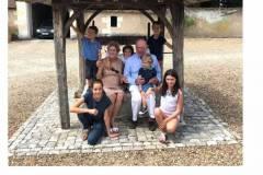 2019 - Au puits du Plessis Valentin Louis Clement Mawige, François et Hedwidge de Grivel & Paco Albane.