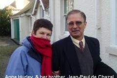 Anne Hurley and Jean-Paul de Chazal
