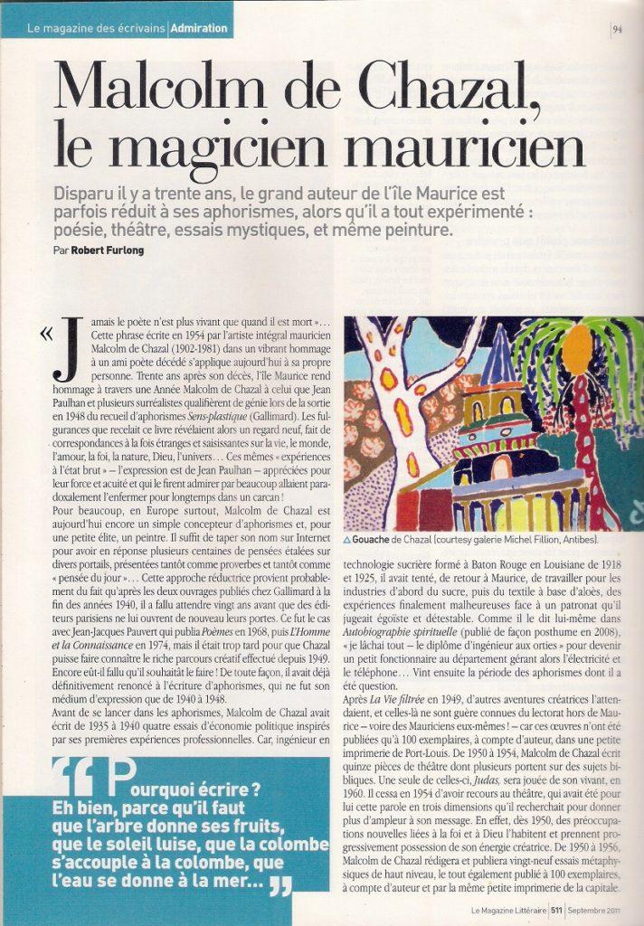 Page du Magazine Littéraire
