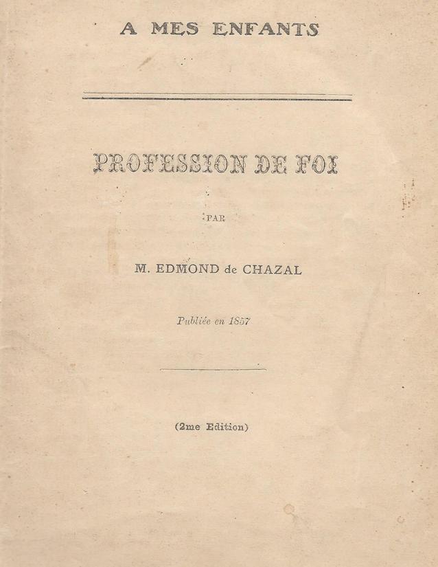 Profession de foi  d'Edmond de Chazal