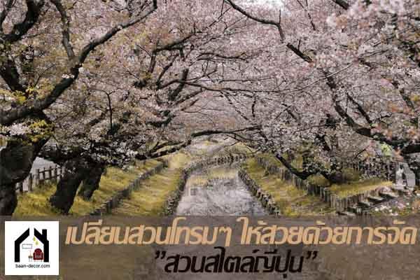 """เปลี่ยนสวนโทรมๆ ให้สวยด้วยการจัด""""สวนสไตล์ญี่ปุ่น"""" #ของแต่งบ้าน"""