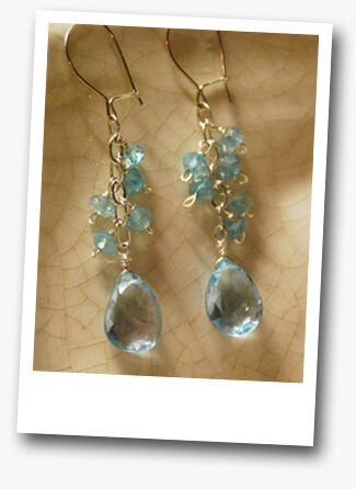 Intermediate Jewelry Class Example with Blue Topaz by Modnitsa Atelier