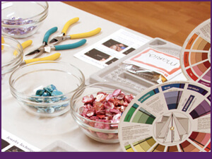 Intermediate and Advanced Jewelry Class Feature Image with Color Wheel