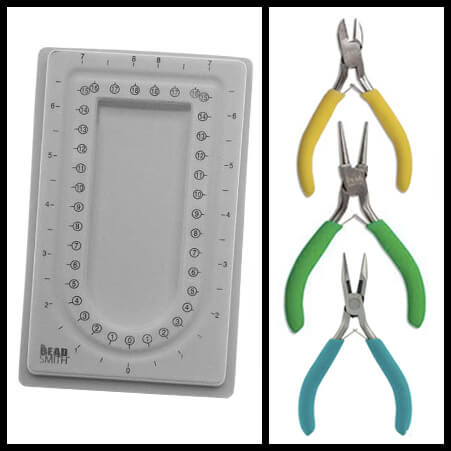 Jewelry Design Tool Kit with Pliers and Bead Tray