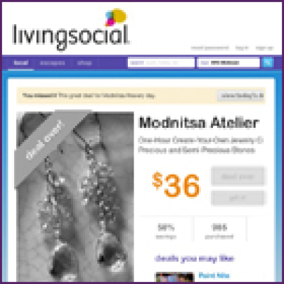 LivingSocial Jewelry Design Class Daily Deal, October 2011