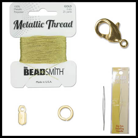 Silk Thread Necklace Supplies Kit