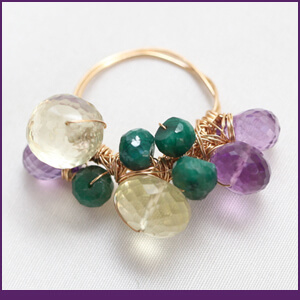 Cluster Ring Design with Gemstones from Specific Skills Jewelry Class