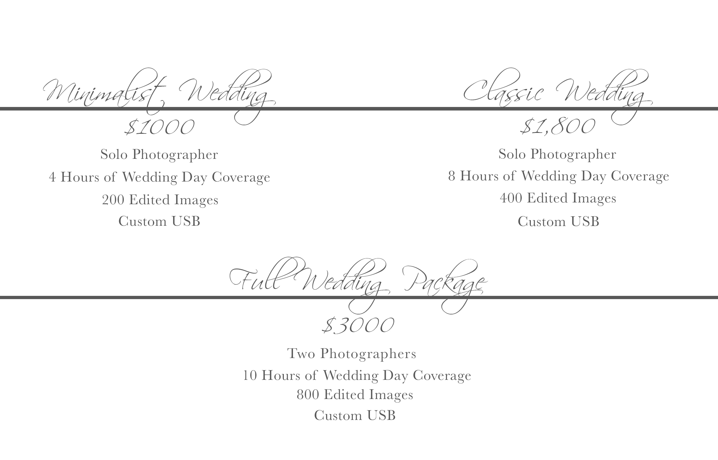 Wedding Package Information