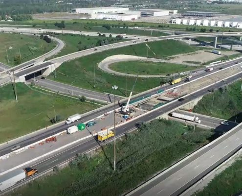 Aerial Photo of Highway 427 Northbound at Hwy 407 and Albion Rd
