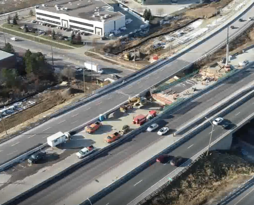 November 2018 Aerial Photo of Albion Rd overpass