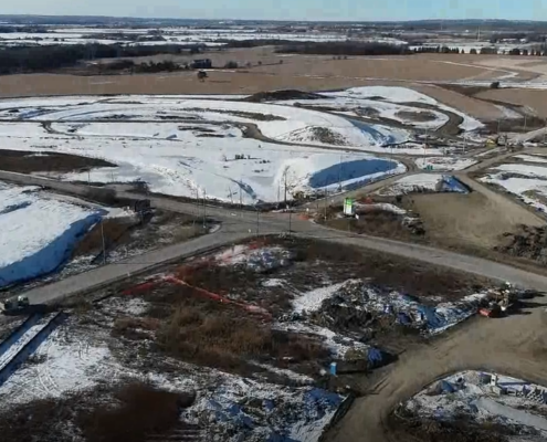 November 2018 Aerial photo at Major MacKenzie Drive and Huntington Road