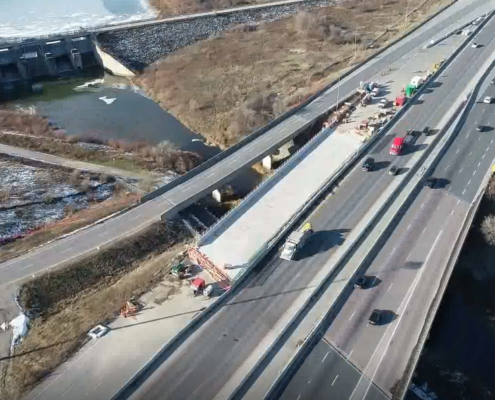 November 2018 Aerial photo of Humber River overpass