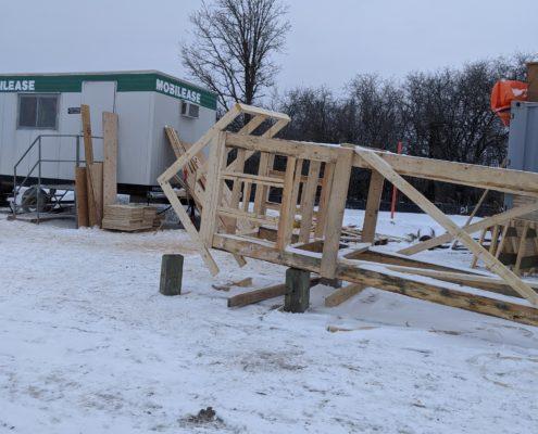 A photo of a bat box under construction near Robinson Creek