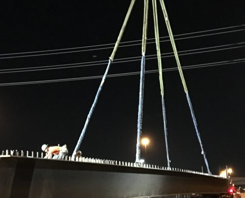 Bridge Construction Girder lifting - September 2018