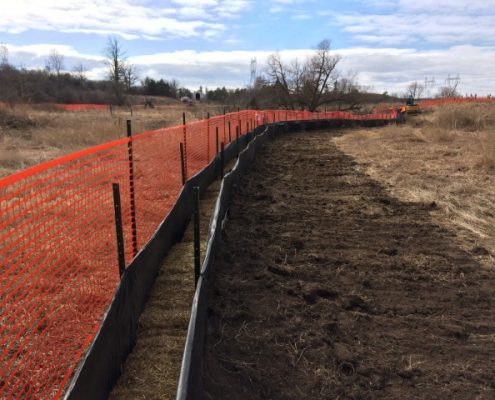 Fencing installed to manage erosion