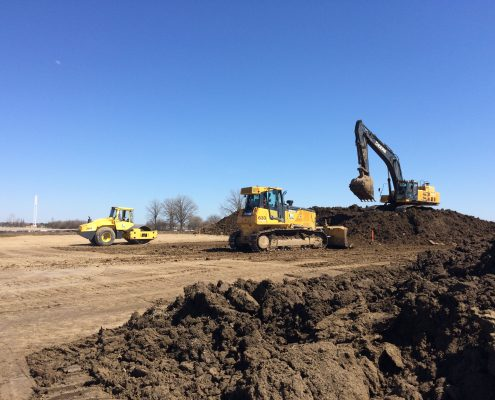 excavation operations during early works