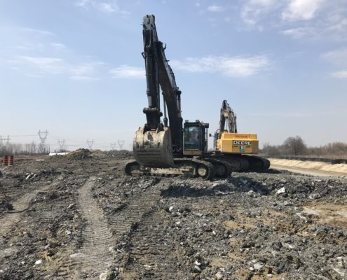 Excavation operations at Rutherford Road