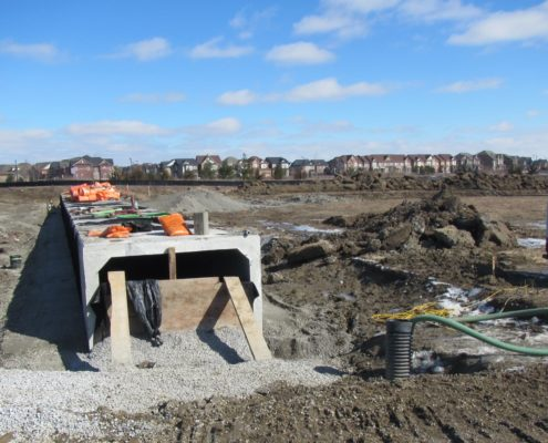 Culvert installation north of Major Mackenzie Drive