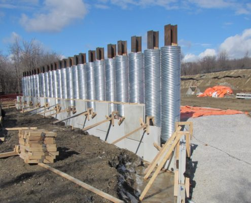 RSS Wall installed on the southbound lane on the north side of Rainbow Creek
