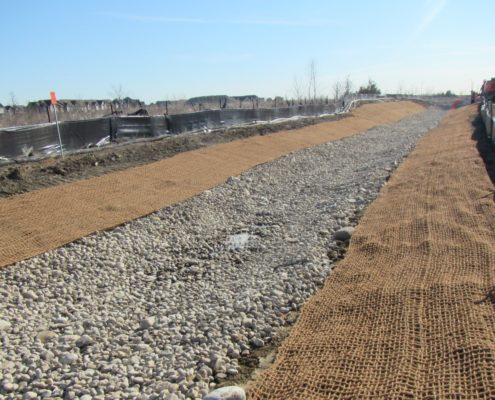 Erosion and sediment control measures installed north of Major Mackenzie Drive