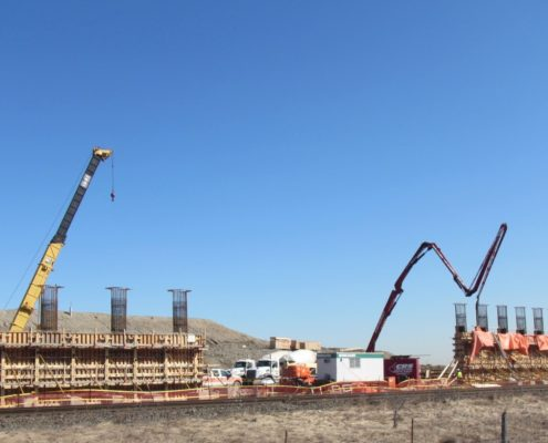 Pier construction at the north side of McGillivray Road