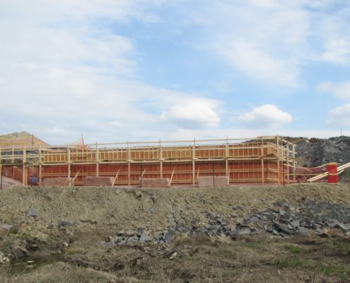 abutment formwork for west robinson creek bridge