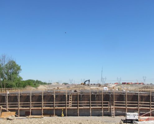 progress of bridge construction at Rainbow Creek
