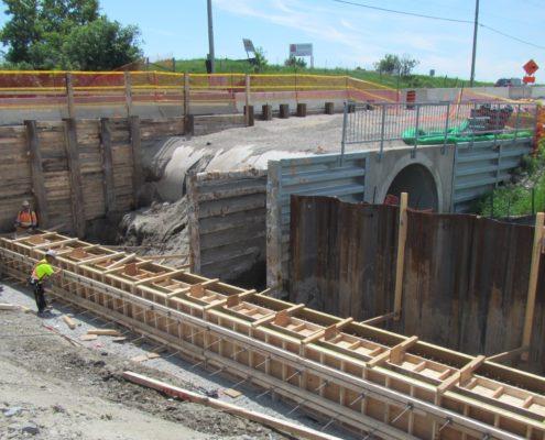 culvert construction at Langstaff Road for new culvert