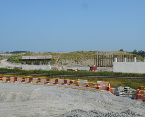 CP Bridge construction progress.