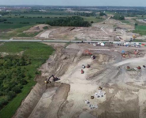Aerial Photo Northbound at Langstaff Rd