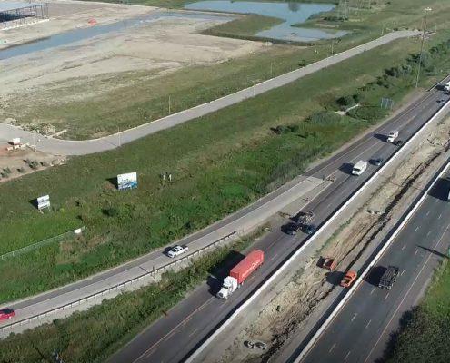 Aerial Photo Northbound Highway 427 North of 407