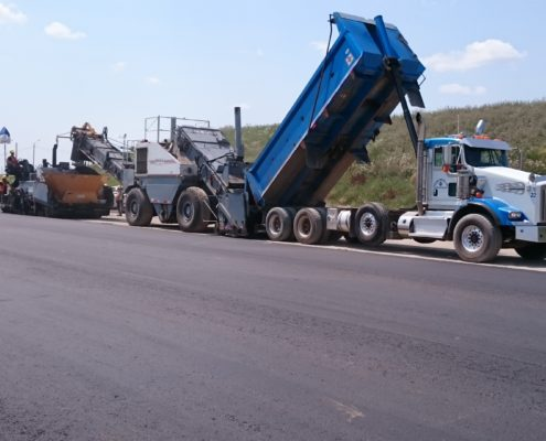 Paving at new section of Zenway