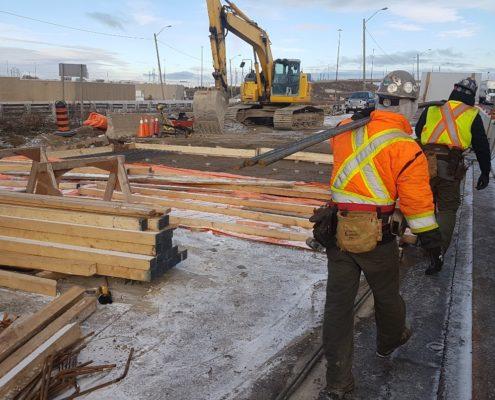 December 2018 Highway 427 Widening Bridge Construction