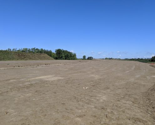 Graded surface north of Langstaff Road