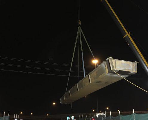 Bridge Construction Girder lifting- September 2018