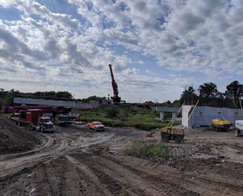 Bridge construction at Robinson Creek