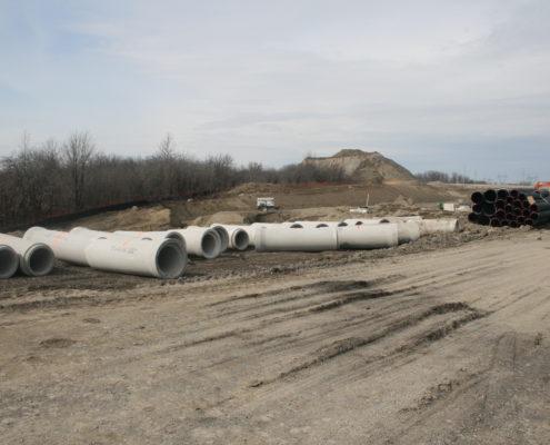 Photo of pipe stored near Rainbow Creek