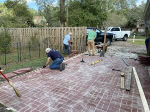 Building Patio at Homeless Shelter