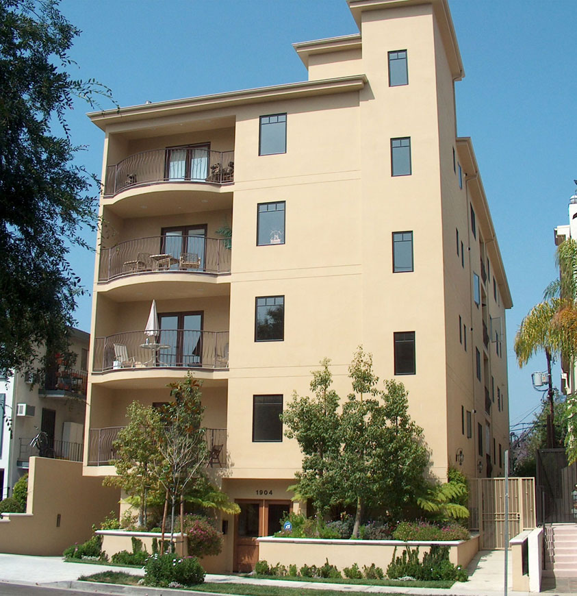 Four-Story Condominium Front View 01