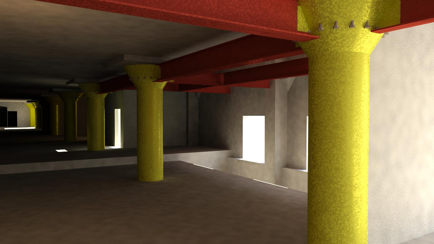 Selma Ave Hotel, Hollywood - Perspective - Level 1 - Retrofit Steel