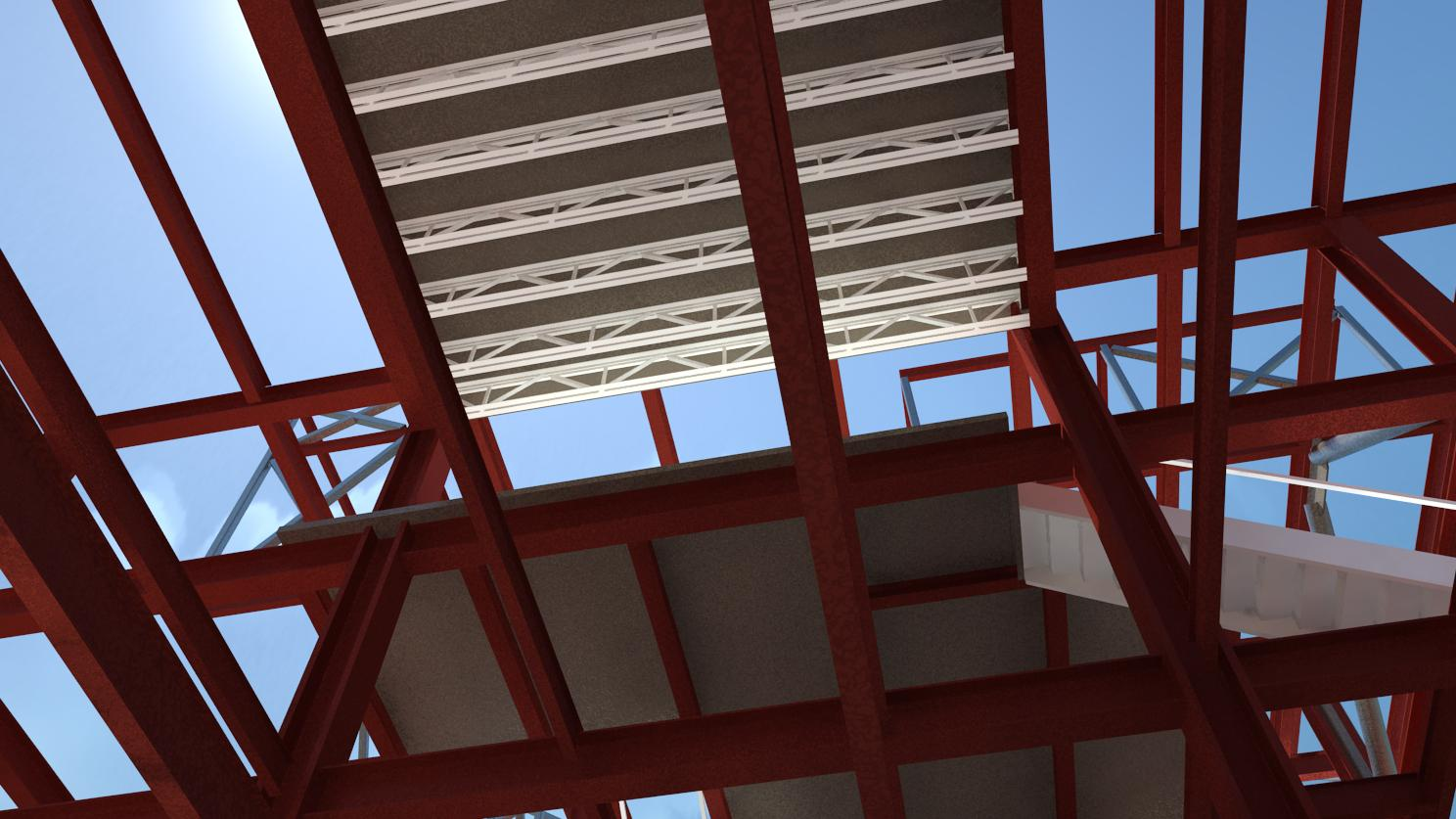 Image - Selma Ave Hotel, Hollywood - Perspective - Open Steel Framing 6th Floor to Pool