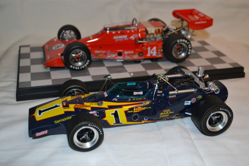 Replicarz 1/18 1974 A J Foyt and 1971 AL Unser Indy