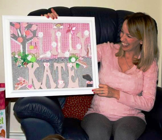 Oh BaBee! Originals Name in a Frame for Lilly Kate's Nursery