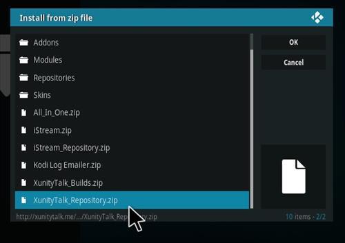 How to Install Xunity Repository Kodi 17 Krypton step 12
