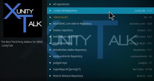 How to Install Xunity Repository Kodi 17 Krypton step 15