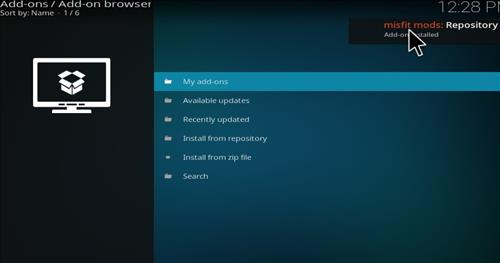 How to Install Misfit Mod Lite Kodi Build with Screenshots step 13