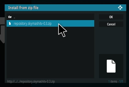How To Install SkymashiTV Kodi Repository Step 12