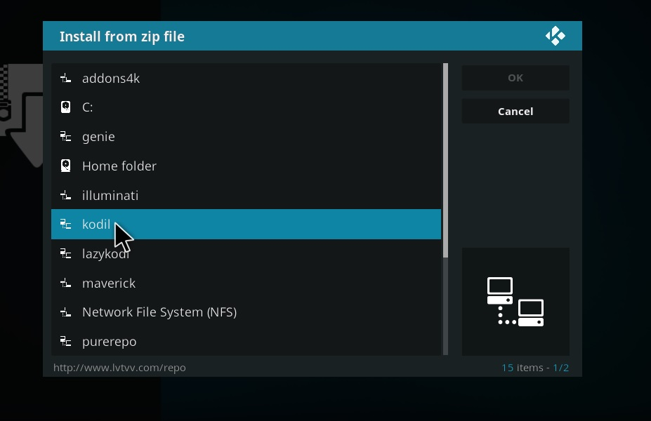 How to Install Kodil Kodi Repository step 11